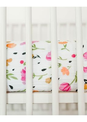 Little Unicorn Little Unicorn Berry and Bloom Crib Sheet