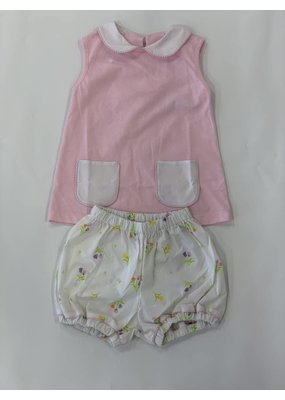 Lullaby Set Lullaby Set Pink Knit Shirt with Tulip Bloomer Set