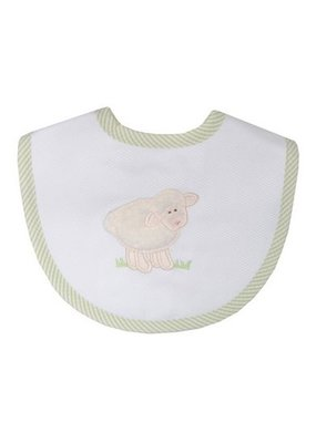 3 Marthas 3 Marthas Green Sheep Aplique Bib