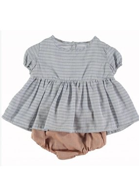 milou&pilou Billie Baby Dress & Bloomer Set
