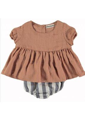 milou&pilou Roseta Baby Dress & Bloomer Set