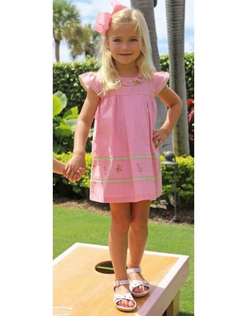 af334cf467d Christian Elizabeth Flagler Flamingo Dress - The Village Exchange