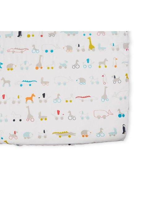 Pehr Pehr Pull Toys Crib Sheet