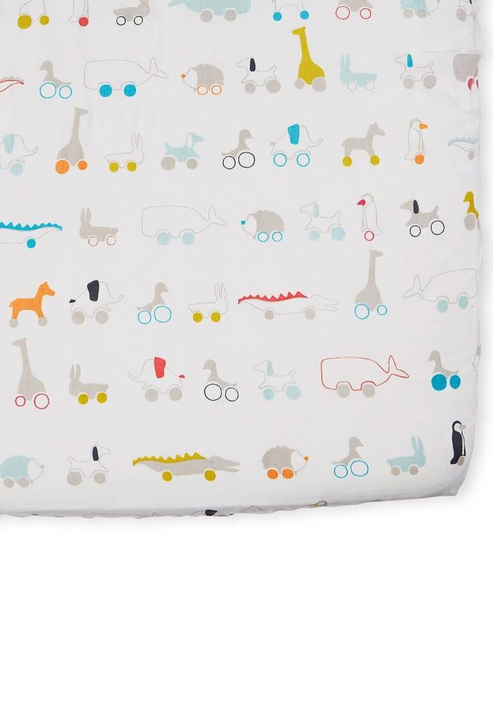 Pehr Pull Toys Crib Sheet