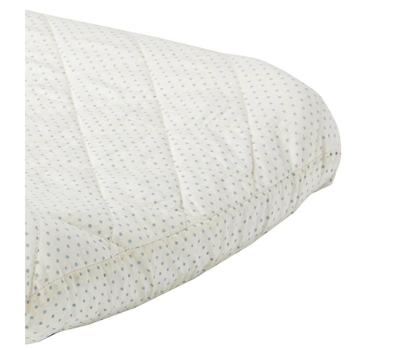 Pehr Blue Pin Dot Changing Pad Cover