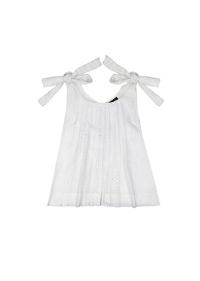 Velveteen Imani Milk Cotton Shiffli Pinafore Top