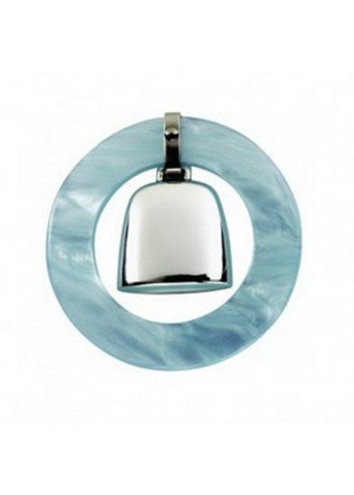Web Pewter Sterling Silver Blue Teething Ring