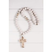 """Sercy Gray with Gold Elle 30"""" Blessing Beads"""