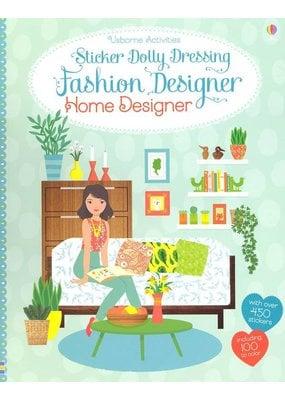 Usborne Sticker Dolly Dressing Home Fashion Designer