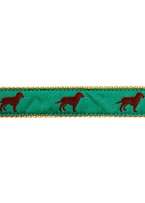 Ebinger Brothers Leather Company Chocolate Lab Ribbon Leather Tab Belt