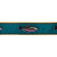 Fish Ribbon Leather Tab Belt
