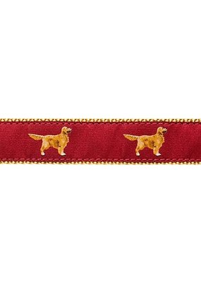 Ebinger Brothers Leather Company Golden Retriever Ribbon Leather Tab Belt