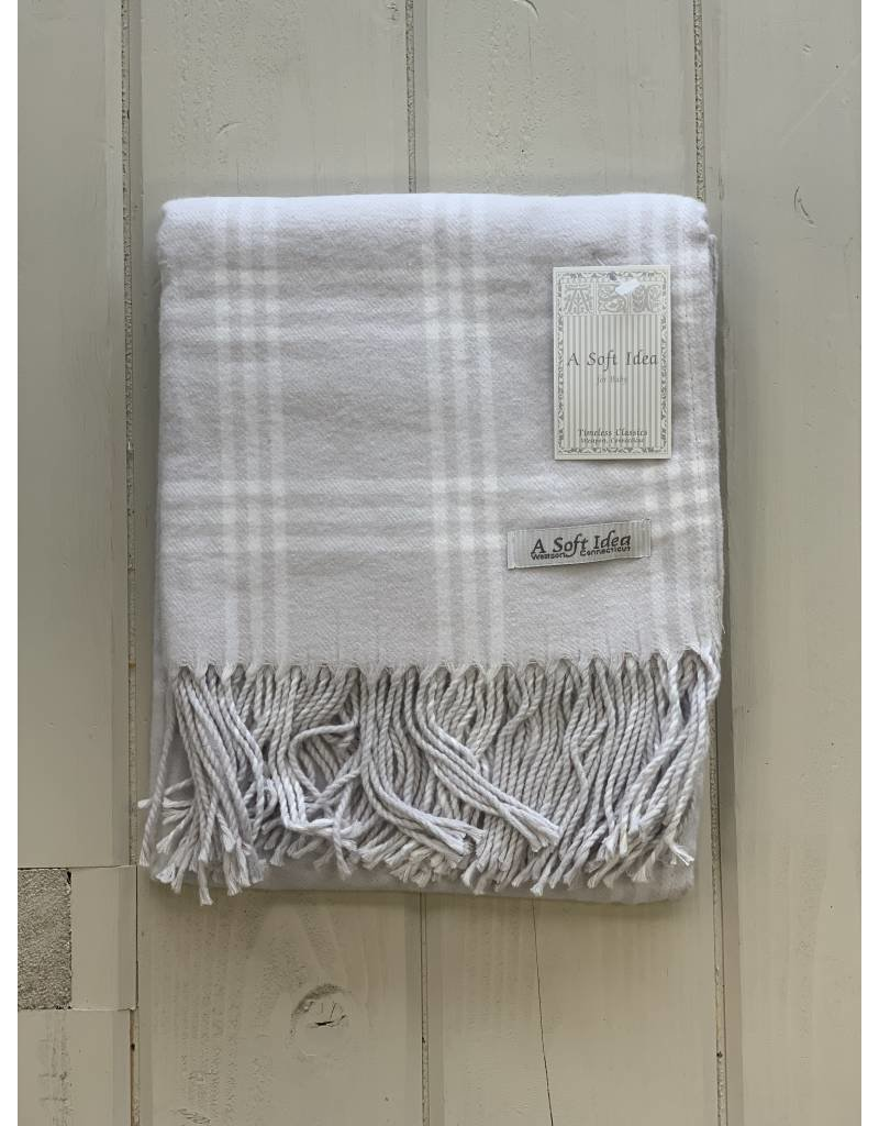 Gray Flannel w/ Fringe Blanket