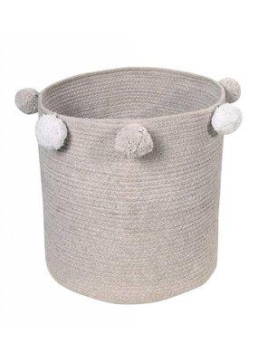 """Lorena Canals Bubbly Grey Basket 12""""x12""""x12"""""""