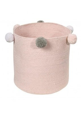 "Lorena Canals Basket Bubbly Pink 12""x12""x12"""