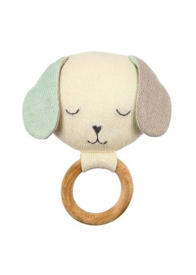 Meri Meri Dog Knit Teether Rattle