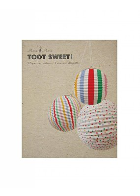 Meri Meri Meri Meri Spots & Stripes Paper Globes