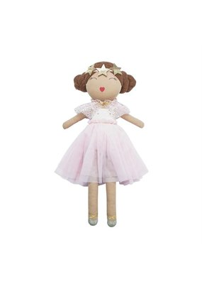 Mudpie Brown and Pink Ballerina Doll