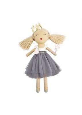 Mudpie Blonde and Grey Ballerina Doll
