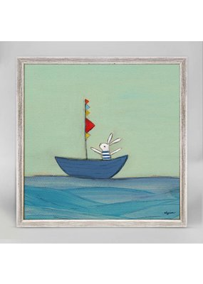 Greenbox Greenbox Bunny in a Boat Art 7x7