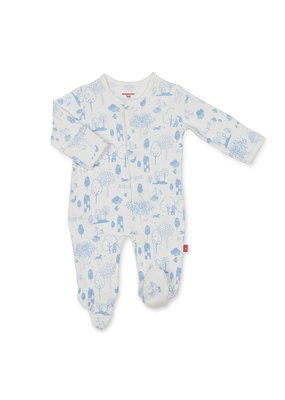 Magnetic Baby Magnetic Me Blue Perfect Day Organic Cotton Footie
