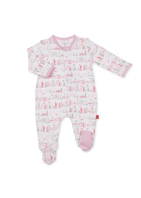 Magnetic Baby Magnetic Me Pink Globetrotter Modal Footie