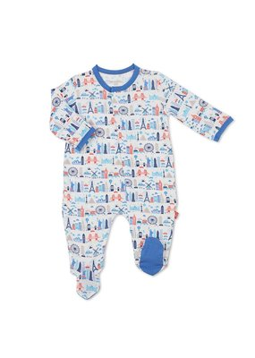 Magnetic Baby Magnetic Me Blue Globetrotter Modal Footie