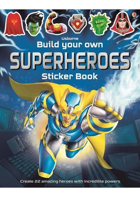 Usborne Build Your Own Superheroes Sticker Book
