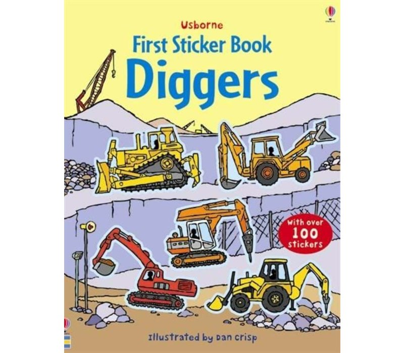 Usborne Diggers First Sticker Book