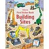Usborne First Sticker Book Building Sites