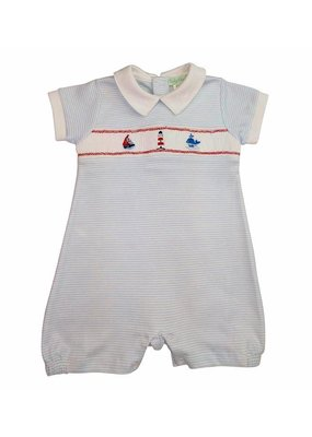 Little Threads Sailboat Hand Smocked Romper