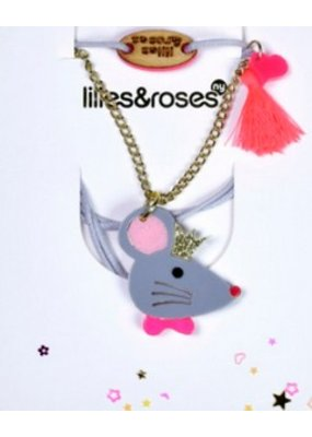 Lillies & Roses L&R Mouse Queen Necklace