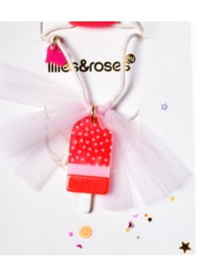 Lillies & Roses L&R Strawberry Popsicle Necklace