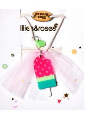 Lillies & Roses L&R Watermelon Popsicle Necklace