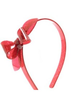 Lillies & Roses L&R Glitter Red Bow Headband