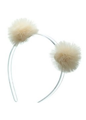 Lillies & Roses L&R Cream Pom Pom Headband