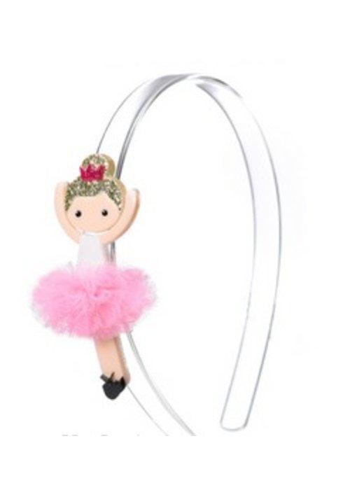 Lillies & Roses L&R Clear w/ Pink Ballerina Headband