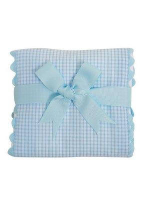 3 Marthas 3 Marthas Blue Whale Fancy Fabric Burp