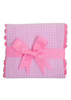 3 Marthas 3 Marthas Pink Whale Fancy Fabric Burp
