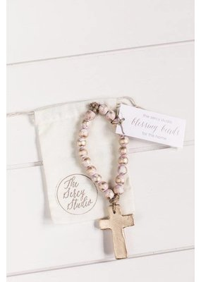 Sercy Studio Sercy Pink and Gold Bitty Blessing Beads 7.5""
