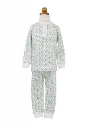 Lila and Hayes Jack Easter Bunny Trellis Pajama