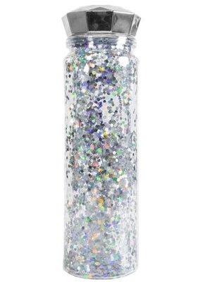 Glitter Water Bottle Silver 24oz