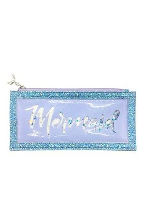 Floating Glitter Mermaid Pencil Pouch