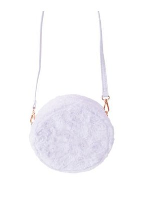 Furry Circle Crossbody Purple