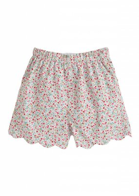 Little English Little English Ditsy Floral Scallop Short