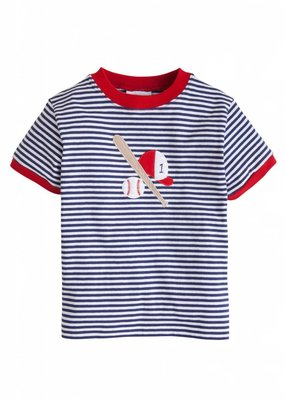 Little English Little English Baseball Applique T-Shirt
