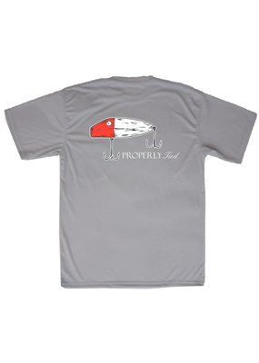 Properly Tied Chrome Grey Short Sleeve Performance Tee Lure