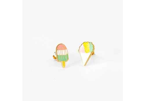 Yellow Owl Workshop Earrings Snow Cone & Popsicle