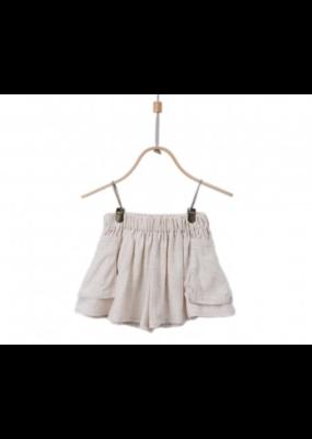Donsje Natural Linen Blend Carry Shorts