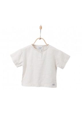 Donsje White Sand Cotton Joe Top
